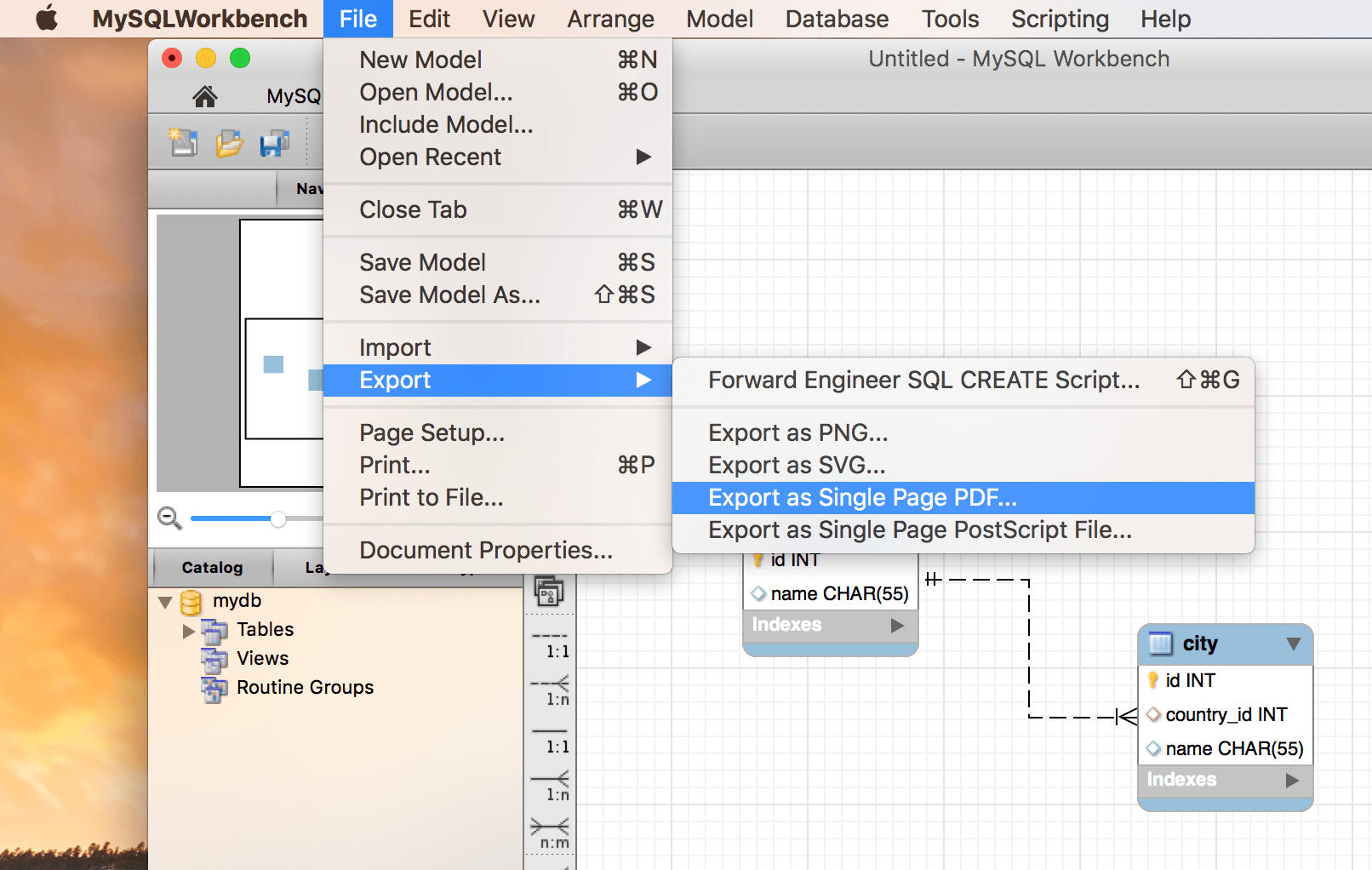how to generate database eer diagrams from sql scripts using mysql MySQL Schema mysql workbench eer diagrams export as pdf