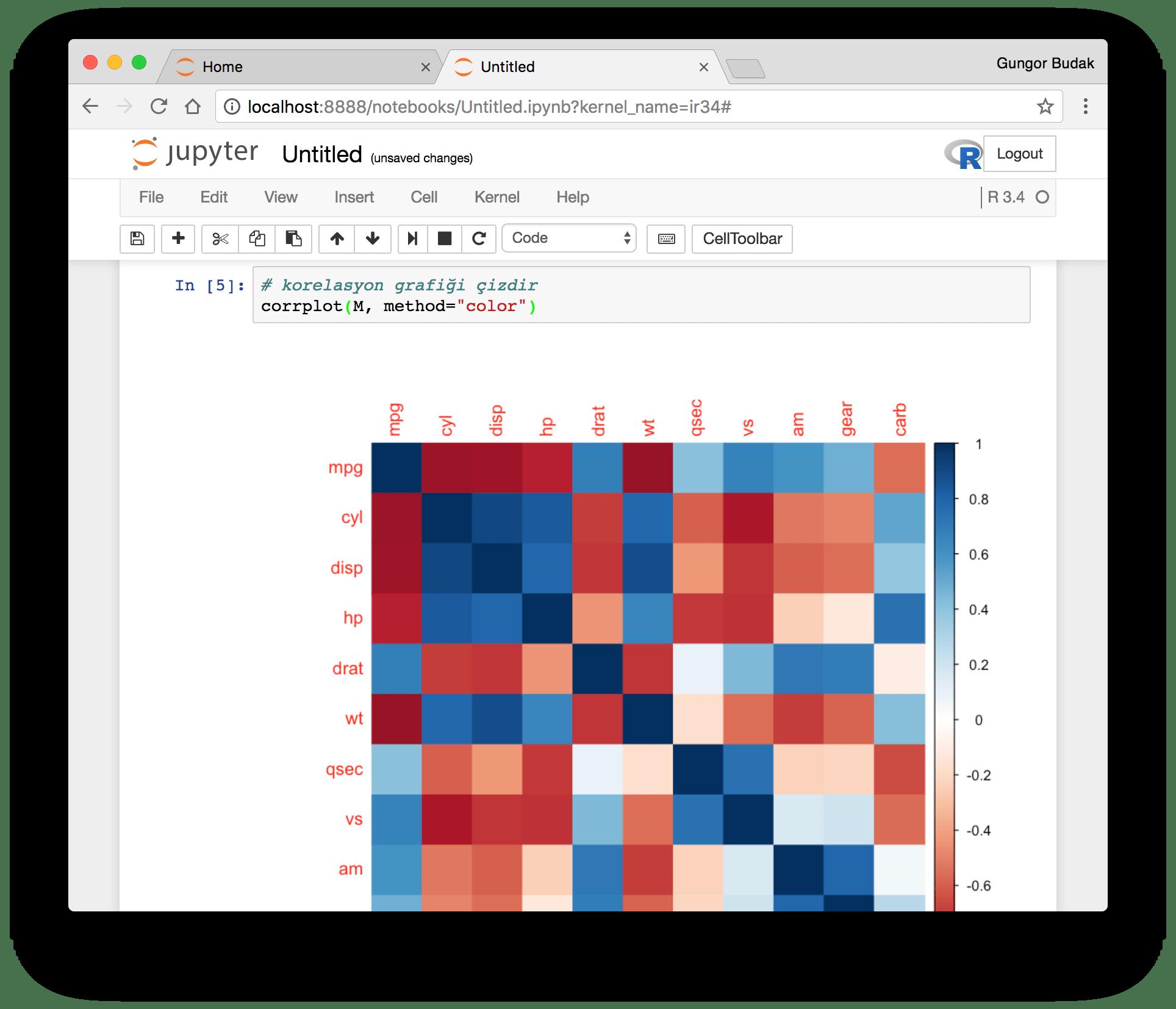 Jupyter Notebook ile R Programlama - R Kernel Kurulumu · Güngör